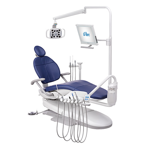 A-dec 300 dental delivery system radius chair mount
