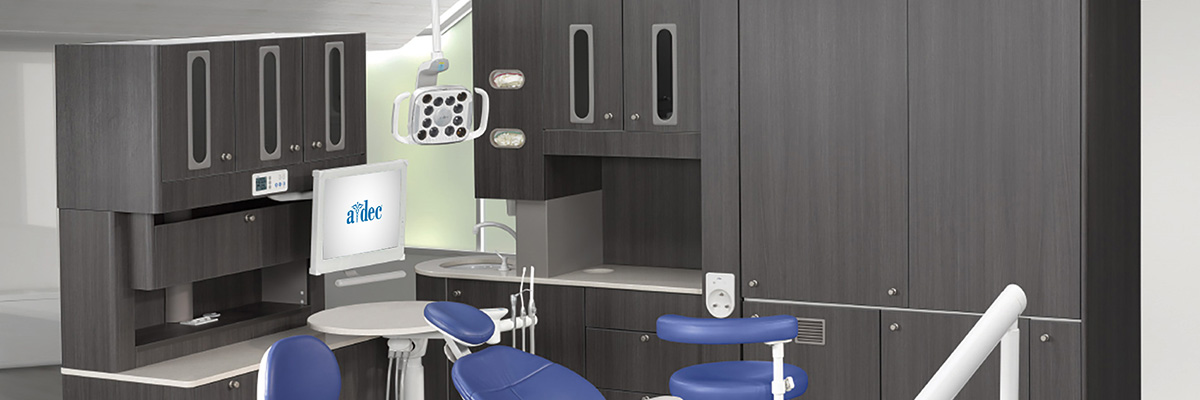 Preference dental cabinets and A-dec dental chair