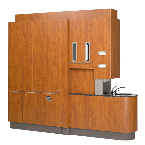 Preference dental cabinet central console