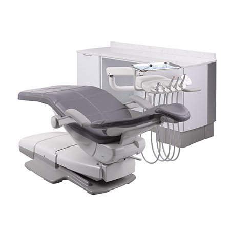 A-dec 500 dental chair with side dental delivery system