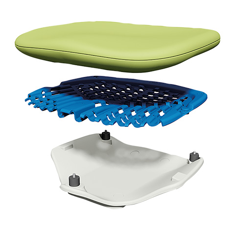 A-dec 500 dental stool with dynamic support
