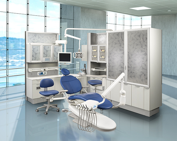 A-dec 300 Dental Operatory with A-dec Inspire Dental Cabinets