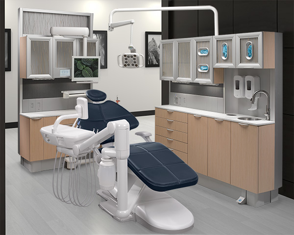 A-dec 500 dental chair and dental delivery system