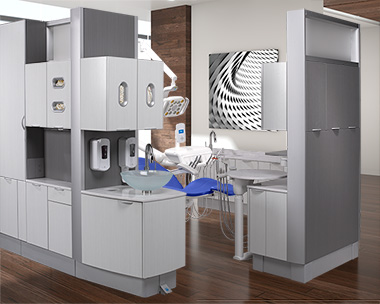 A-dec Inspire dental cabinets and A-dec 500 dental equipment thumb