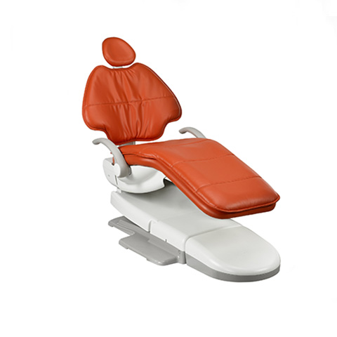 A-dec dental chair in paprika