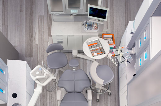 A-dec dental equipment in dental operatory