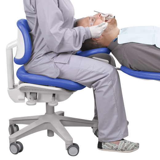 A-dec 500 Dental Stool with Dentist